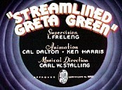 Streamlined Greta Green Cartoon Picture