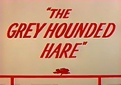 The Grey Hounded Hare Cartoon Picture
