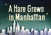 A Hare Grows In Manhattan Cartoon Picture