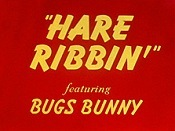 Hare Ribbin' Cartoon Picture