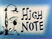 High Note Free Cartoon Picture