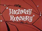 Highway Runnery Cartoon Character Picture
