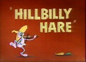Hillbilly Hare Picture Of The Cartoon