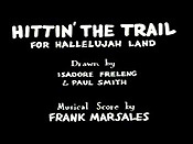 Hittin' The Trail For Hallelujah Land Cartoon Picture
