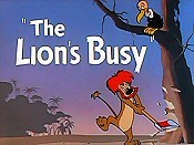 The Lion's Busy Free Cartoon Pictures