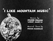 I Like Mountain Music Cartoon Picture