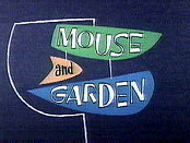 Mouse And Garden Picture Into Cartoon