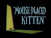 Mouse-Placed Kitten Free Cartoon Picture