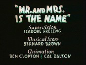 Mr. And Mrs. Is The Name Cartoons Picture