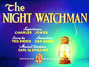 The Night Watchman Free Cartoon Picture