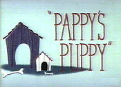 Pappy's Puppy Picture To Cartoon