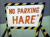 No Parking Hare Cartoon Picture