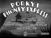 Porky's Phoney Express Picture Of The Cartoon