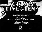 Porky's Five & Ten Picture Of The Cartoon
