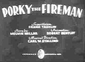 Porky The Fireman Cartoon Character Picture