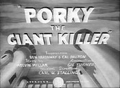Porky The Giant Killer Free Cartoon Picture