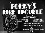 Porky's Tire Trouble Cartoon Character Picture