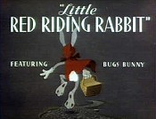 Little Red Riding Rabbit Cartoon Picture