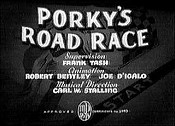 Porky's Road Race Cartoon Picture