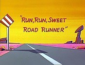 Run, Run, Sweet Road Runner Picture Of The Cartoon