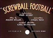 Screwball Football The Cartoon Pictures