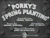 Porky's Spring Planting Free Cartoon Pictures