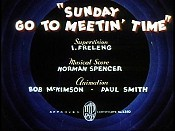 Sunday Go To Meetin' Time The Cartoon Pictures