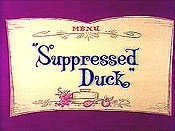 Suppressed Duck Cartoon Picture