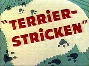 Terrier-Stricken Cartoon Picture