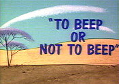 To Beep Or Not To Beep Cartoon Picture