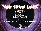 Toy Town Hall Cartoon Picture