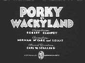 Porky In Wackyland Cartoon Character Picture