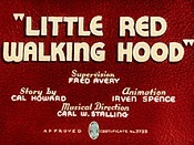 Little Red Walking Hood Cartoon Pictures