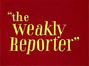 The Weakly Reporter Picture Into Cartoon
