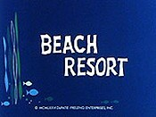 Beach Resort Cartoon Character Picture