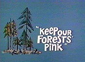 Keep Our Forests Pink Cartoon Funny Pictures