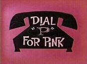 Dial 'P' For Pink Picture Of Cartoon