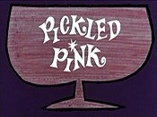 Pickled Pink Cartoon Picture