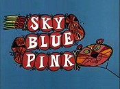 Sky Blue Pink Picture Into Cartoon