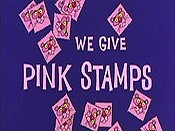 We Give Pink Stamps Cartoon Character Picture