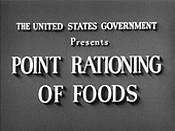 Point Rationing Of Foods Cartoon Picture