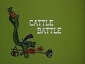 Cattle Battle Cartoon Character Picture