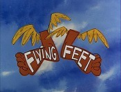 Flying Feet Cartoon Character Picture