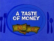 A Taste Of Money Cartoon Character Picture