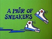 A Pair Of Sneakers Cartoon Character Picture