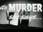 It's Murder She Says... Cartoon Picture
