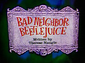 Bad Neighbor Beetlejuice Cartoon Picture