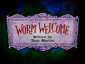 Worm Welcome Cartoon Picture