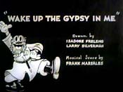 Wake Up The Gypsy In Me Free Cartoon Picture