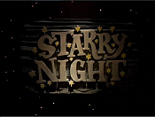 Starry Night Picture Of Cartoon